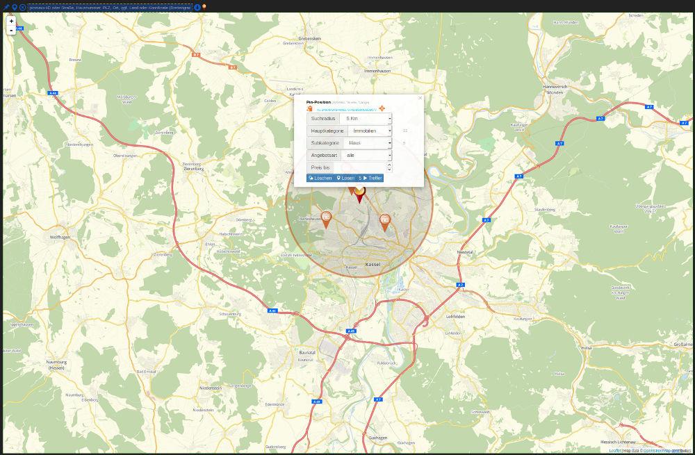 Digitale auf der Grundlage von OpenStreetMap-Rohdaten