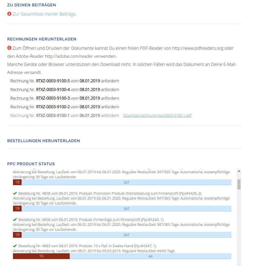 per Request aus Rohdaten gerendertes PDF