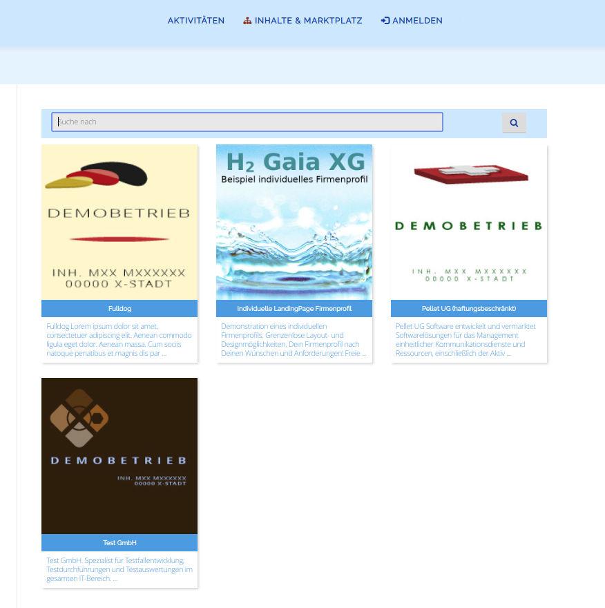 Suche in Content-Klassen / Flex Cards